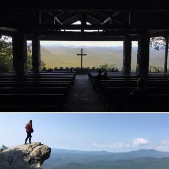 Fred W. Symmes Chapel (aka Pretty Place), Cleveland, South Carolina; The Blowing Rock, Blowing Rock, North Carolina